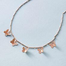 Collar con diseño de mariposa 1 pieza
