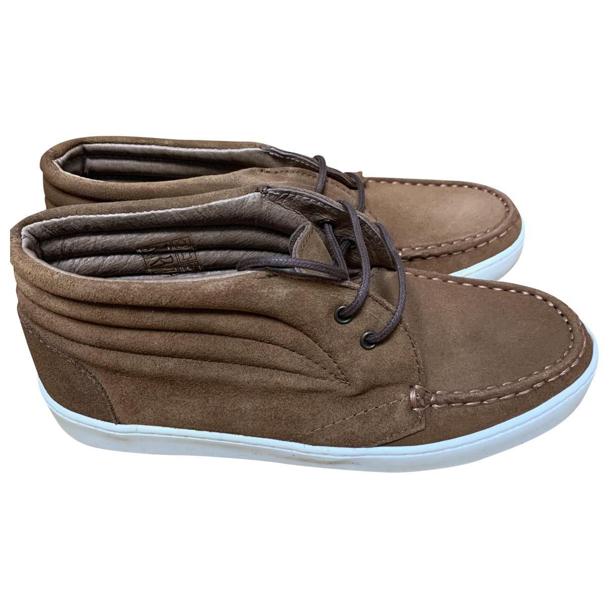Bonpoint - A lacets   pour enfant en suede - marron