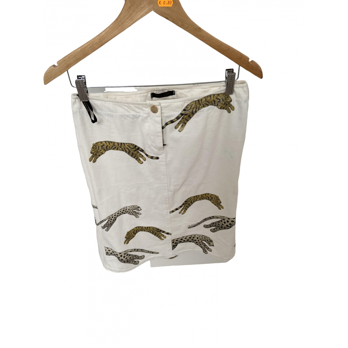Roberto Cavalli - Jupe   pour femme en coton - blanc
