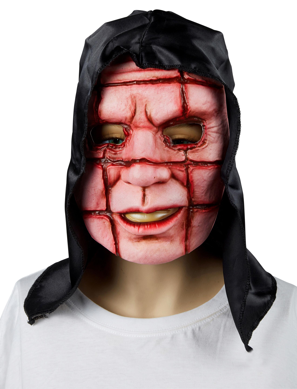 Kostuemzubehor Maske mit Schnitten Farbe: rot