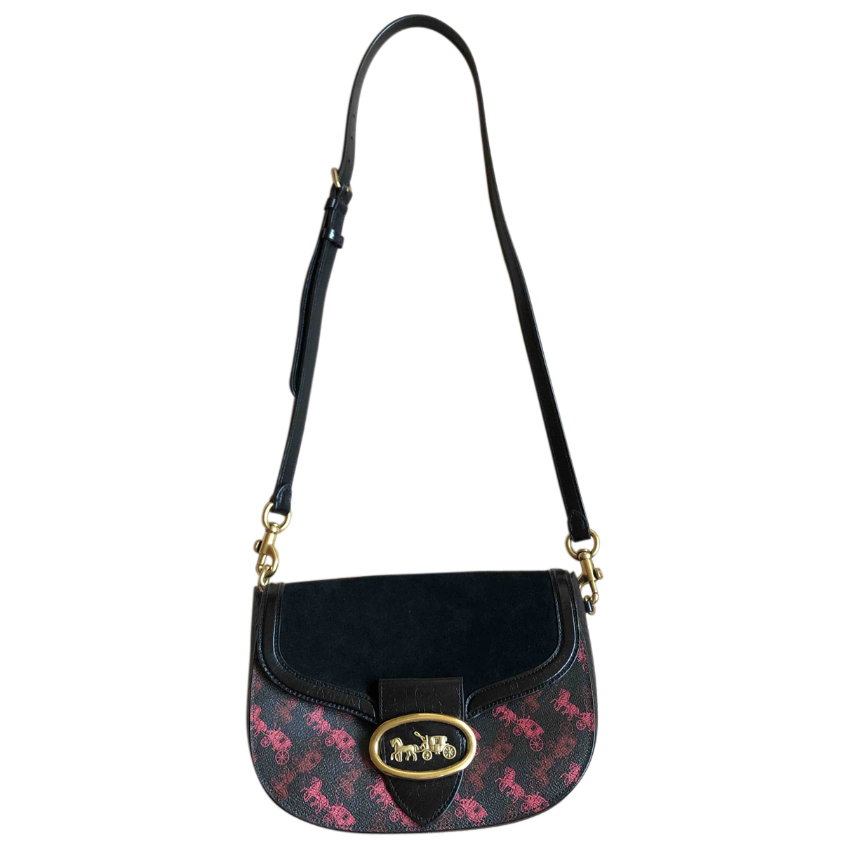 Coach N Black Suede handbag for Women N