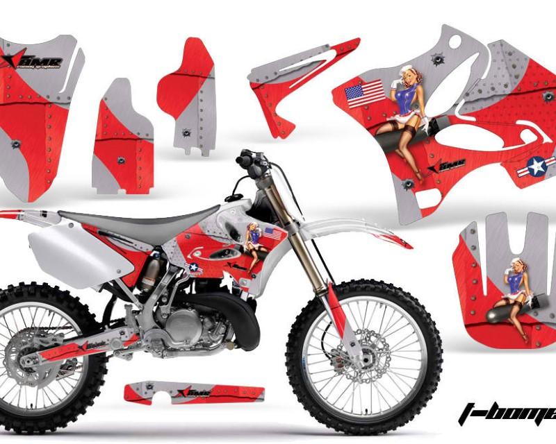 AMR Racing Dirt Bike Graphics Kit Decal Wrap for Yamaha YZ125 YZ250 2002-2014áTBOMBER RED