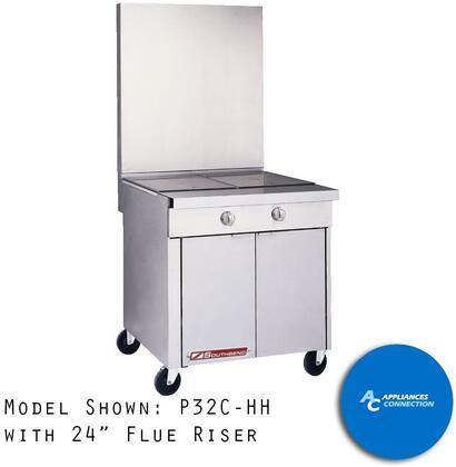 PR3616 Platinum Series 36-Inch High Flue Riser  16-Inch