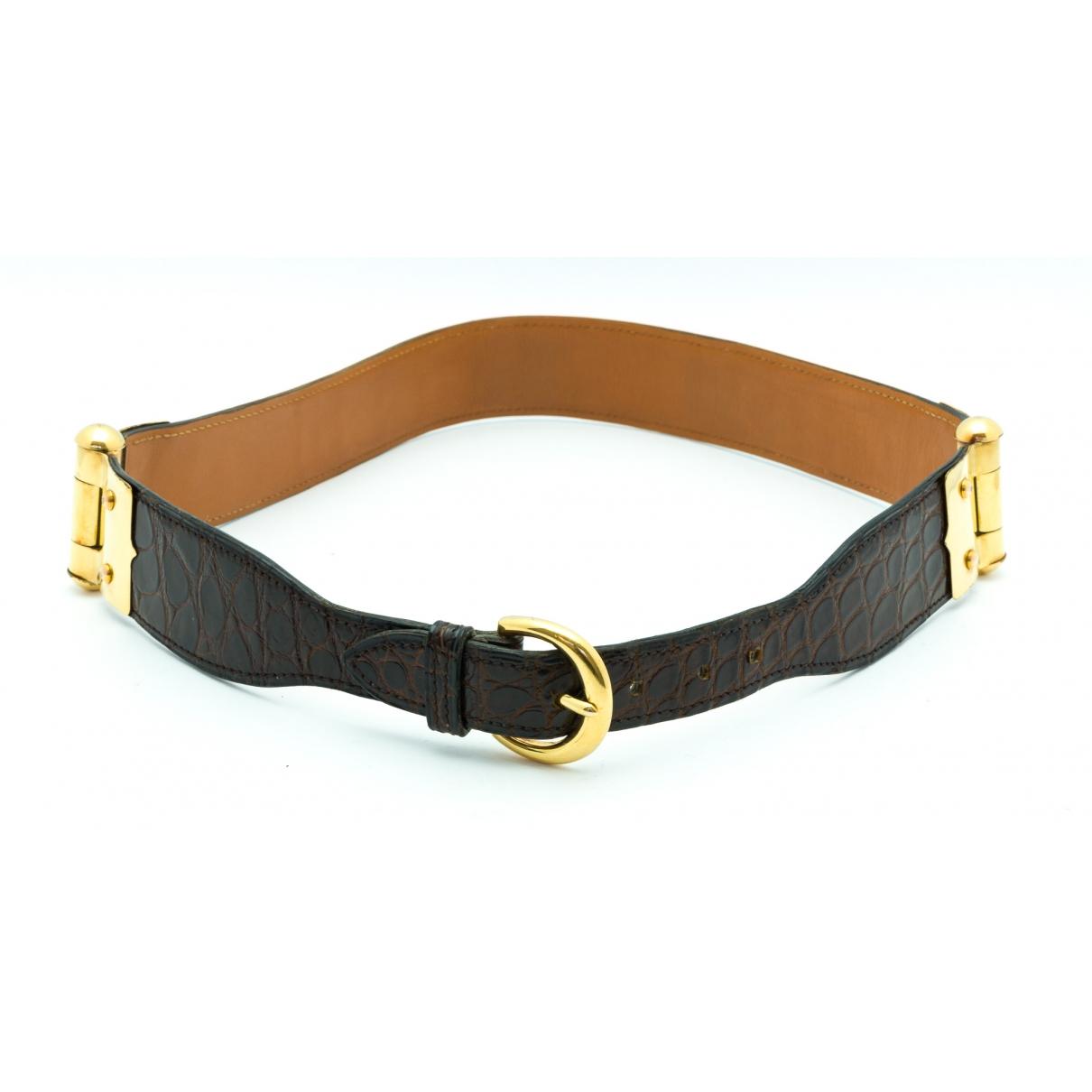 Hermès \N Brown Crocodile belt for Women 75 cm