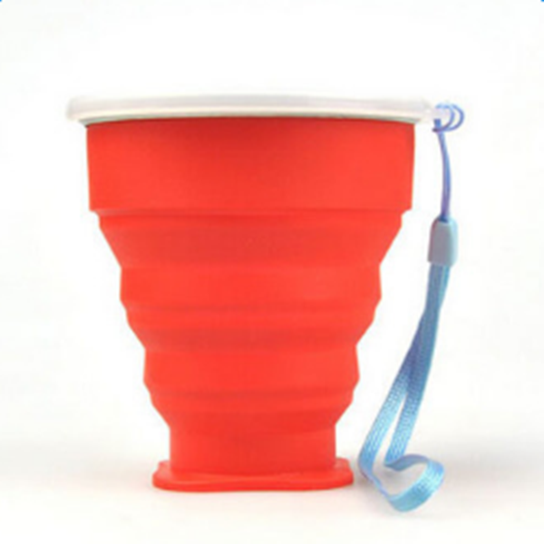 Solid Color Outdoor Portable Multi-functional Silica Gel Water Cup