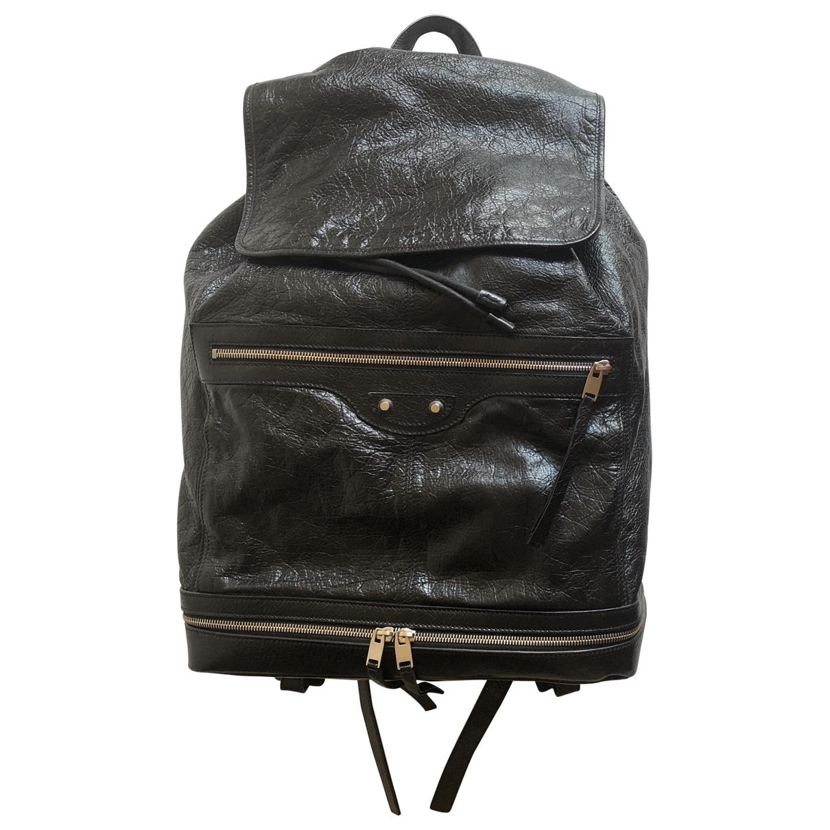 Balenciaga \N Black Leather bag for Men \N