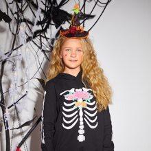 Toddler Girls Halloween Witch Hat Decor Hair Hoop