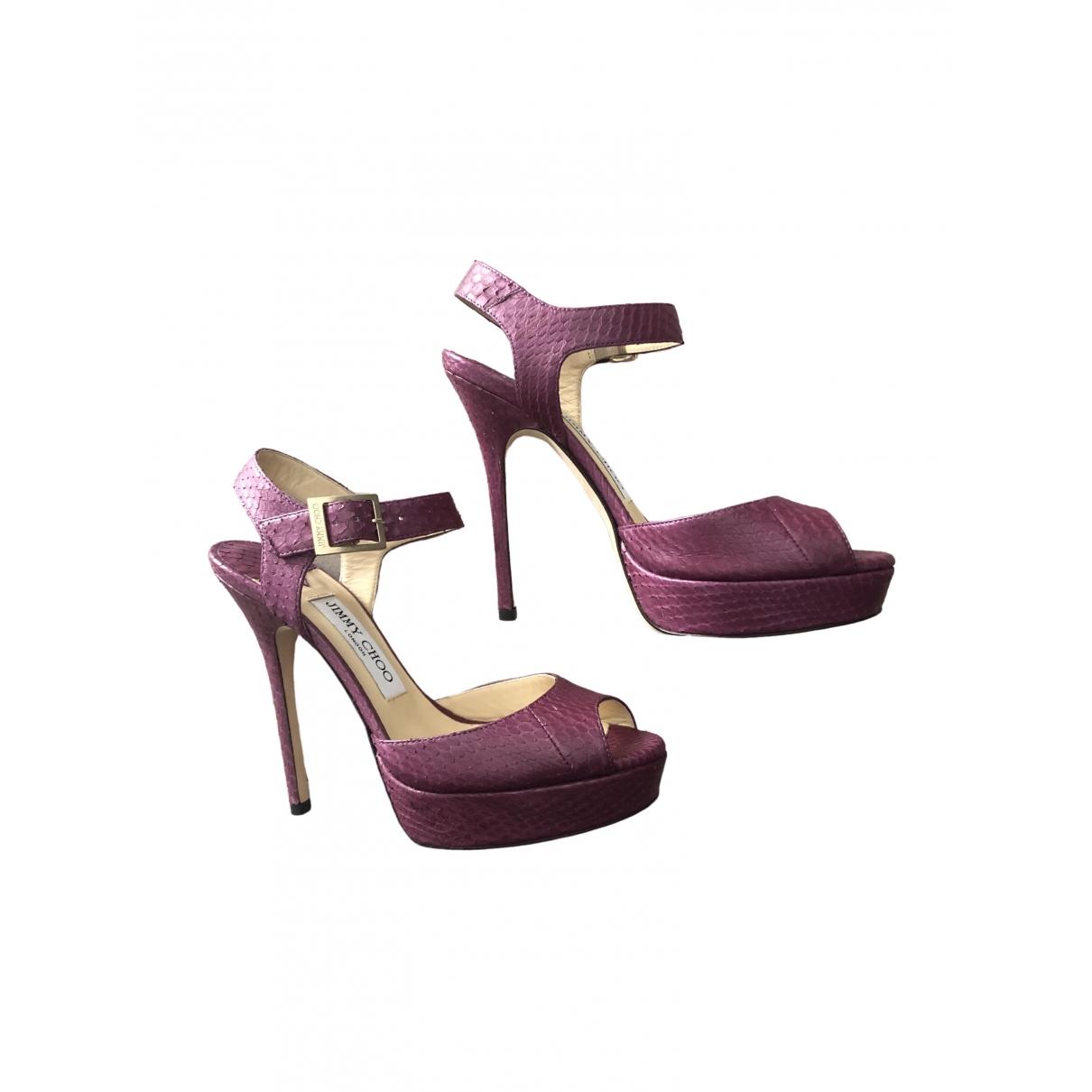 Jimmy Choo \N Purple Water snake Sandals for Women 36.5 IT