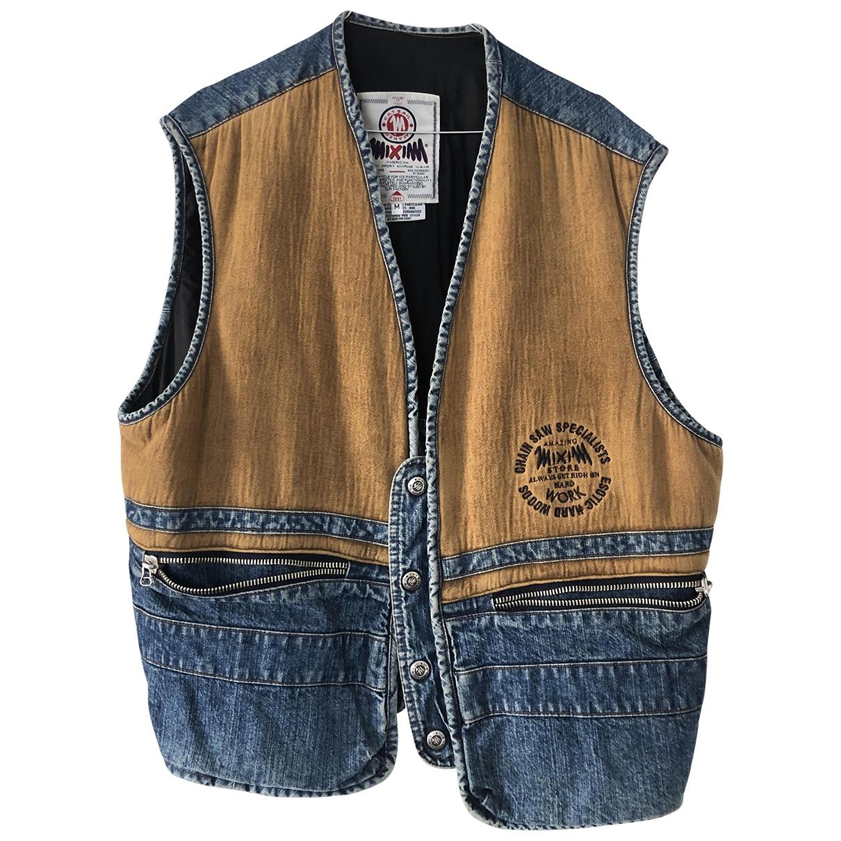 Non Signe / Unsigned Oversize Pullover.Westen.Sweatshirts  in  Blau Baumwolle
