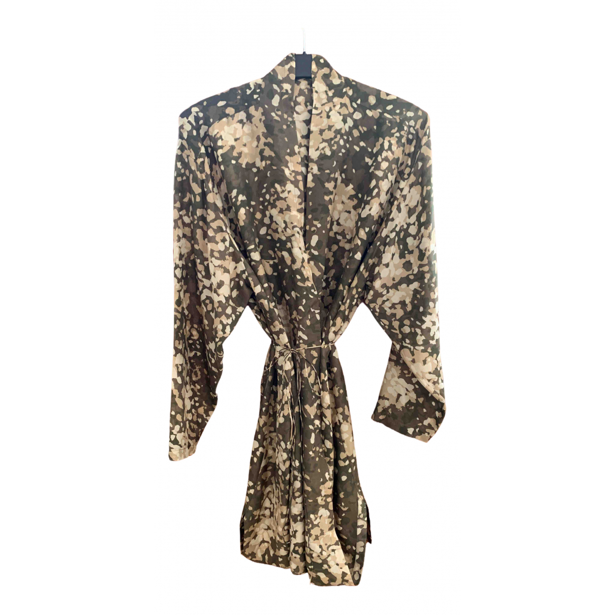Stella Mccartney N Khaki Silk dress for Women 42 IT