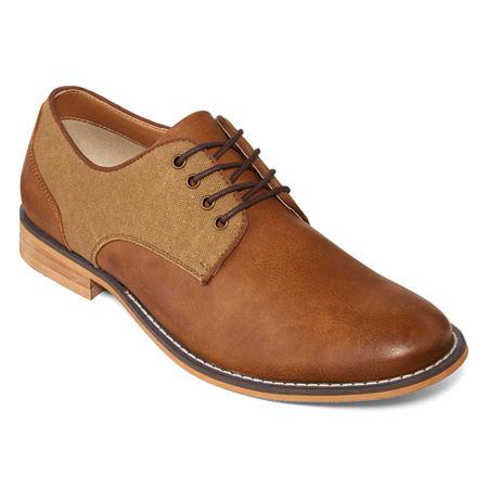 JF J.Ferrar Mens Titus Oxford Shoes, 8 1/2 Medium, Brown