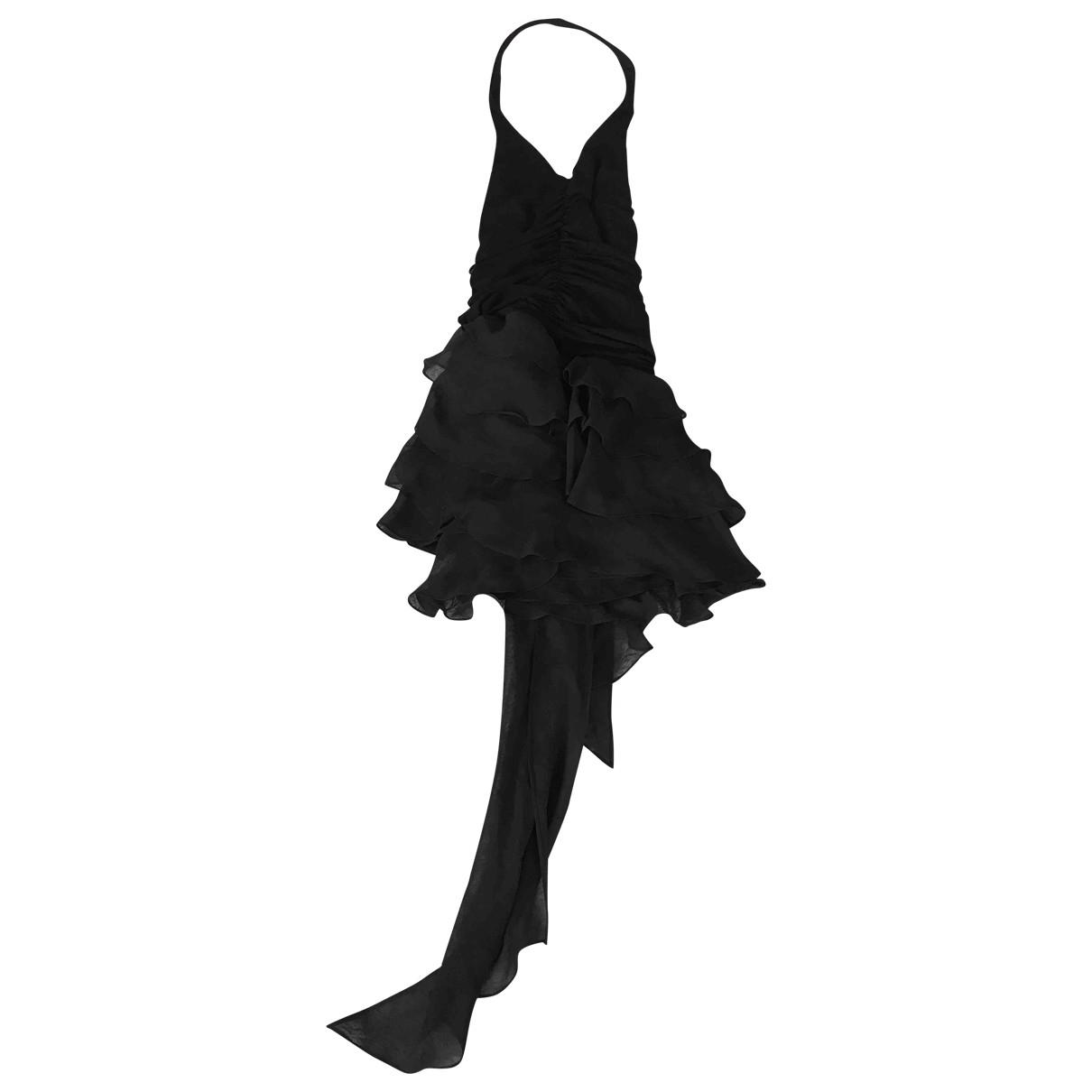 Bcbg Max Azria \N Black Silk dress for Women XS International
