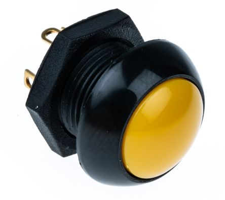 Otto Double Pole Double Throw (DPDT)Double Pole Single Throw (DPST) Momentary Push Button Switch, Panel Mount