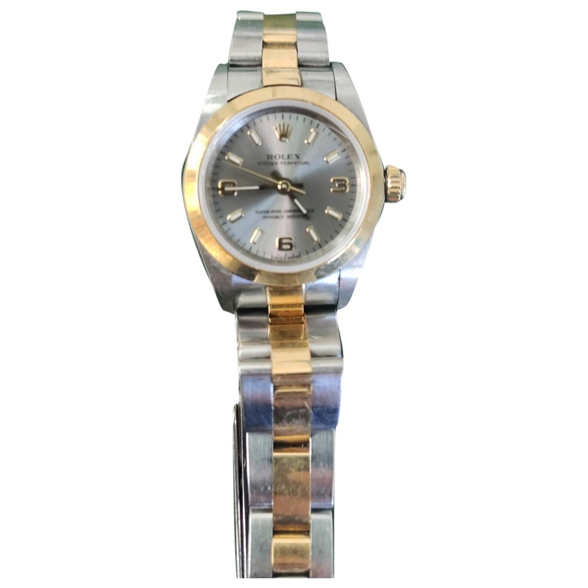 Rolex - Montre Lady Oyster Perpetual 24mm pour femme en or et acier - argente
