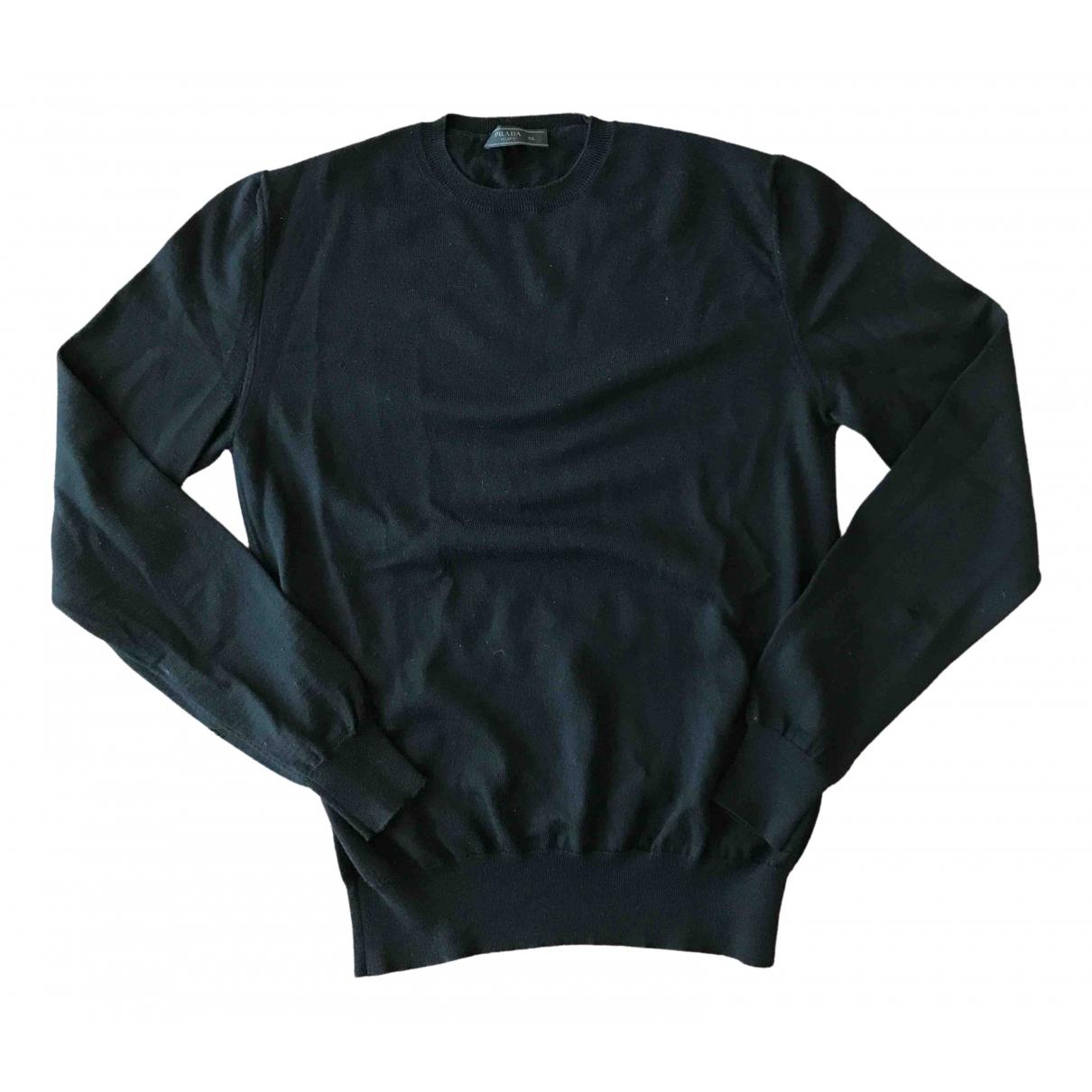Prada - Pulls.Gilets.Sweats   pour homme en laine - noir