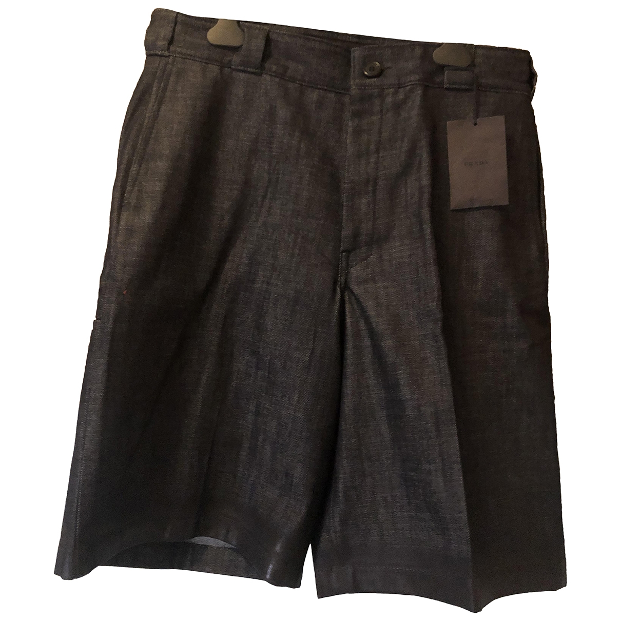 Prada \N Navy Denim - Jeans Shorts for Men 48 IT