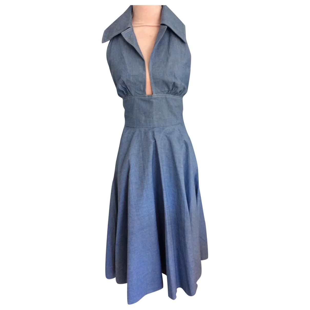 Jean Varon \N Kleid in  Blau Baumwolle