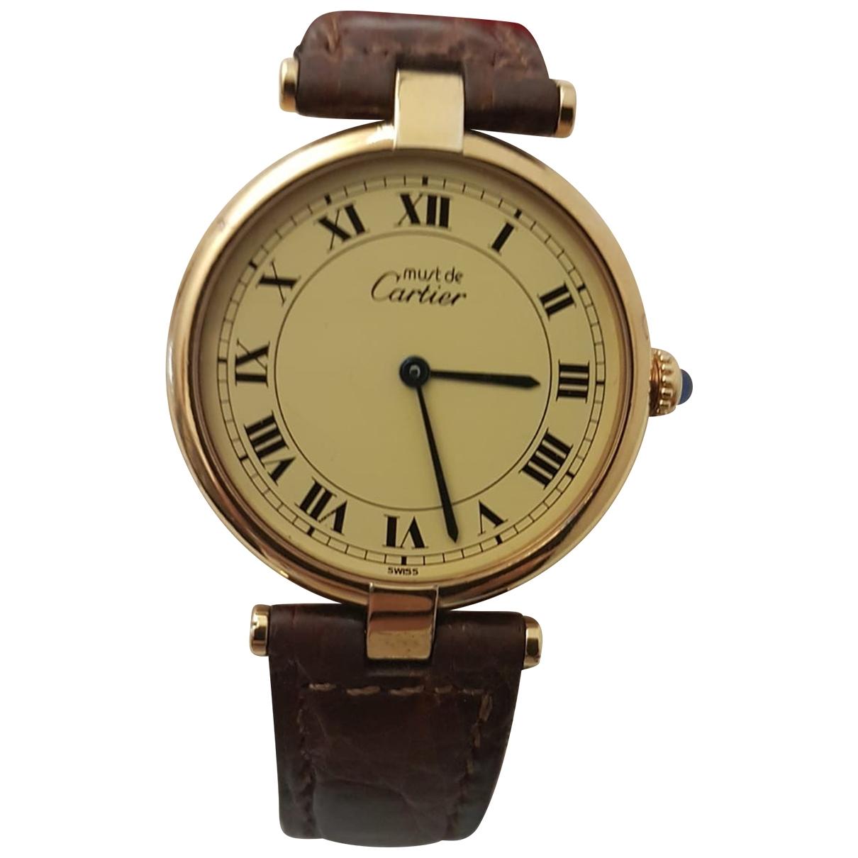 Cartier Must Vendome  Uhr in  Gelb Vermeil