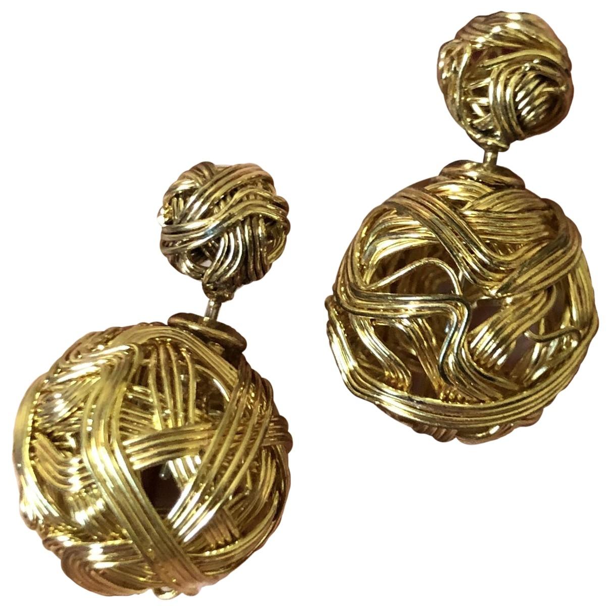- Boucles doreilles Art Deco pour femme en acier - dore