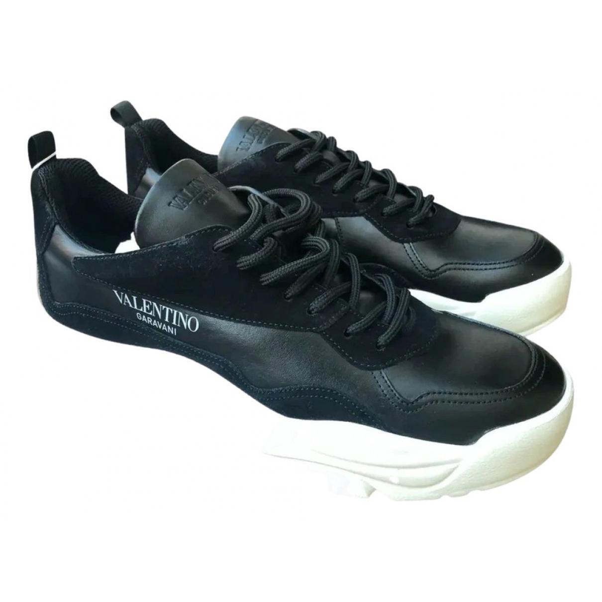Valentino Garavani - Baskets Gumboy pour homme en cuir - noir