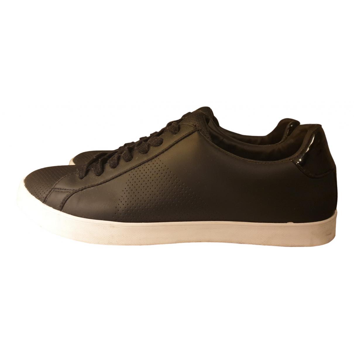 Zara - Baskets   pour homme en cuir - noir