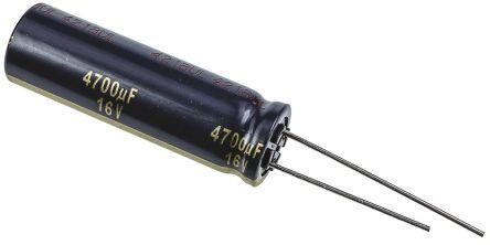Panasonic 4700μF Electrolytic Capacitor 16V dc, Through Hole - EEUFK1C472L (5)