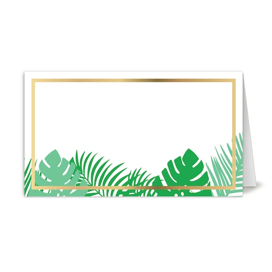 Martha Stewart Personalized Lily Pond Tropical Folded Foil Wedding Place Card   Michaels®