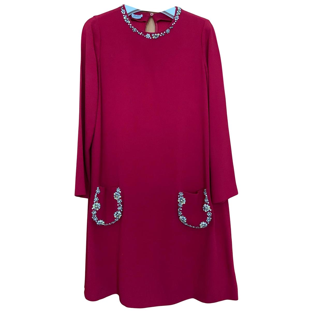 Miu Miu \N Kleid in  Rot Viskose