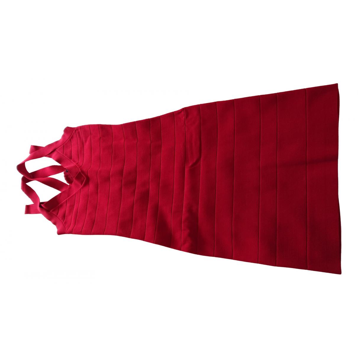 Karen Millen \N Red Cotton - elasthane dress for Women 8 UK