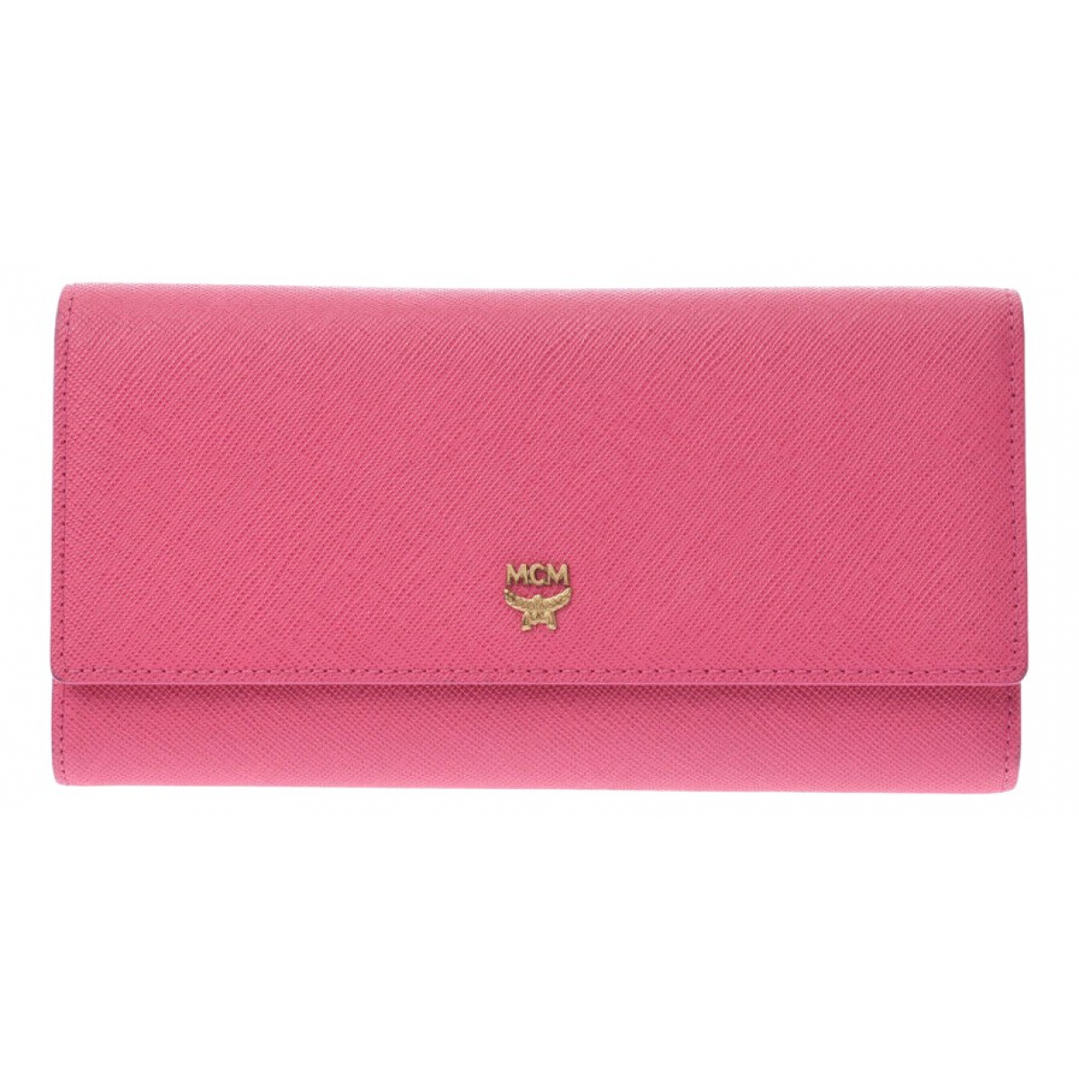 Mcm \N Pink Leather wallet for Women \N
