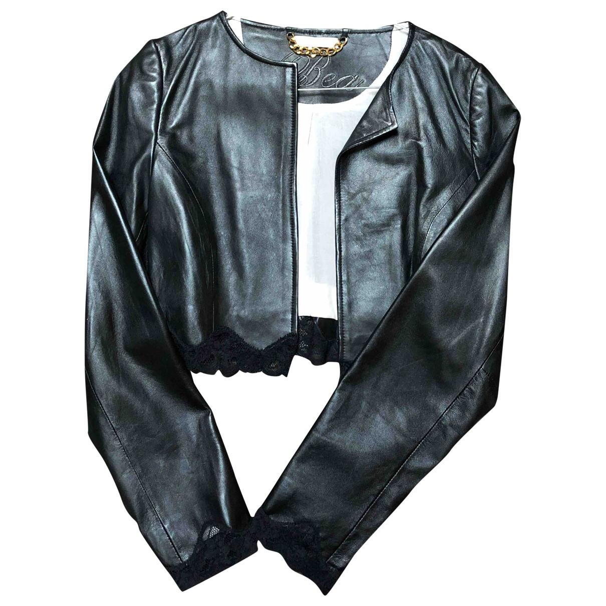 Beayukmui - Veste   pour femme en cuir - noir