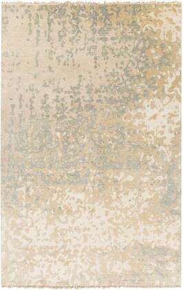 Watercolor WAT-5014 2' x 3' Rectangle Modern Rugs in Ivory  Light Gray