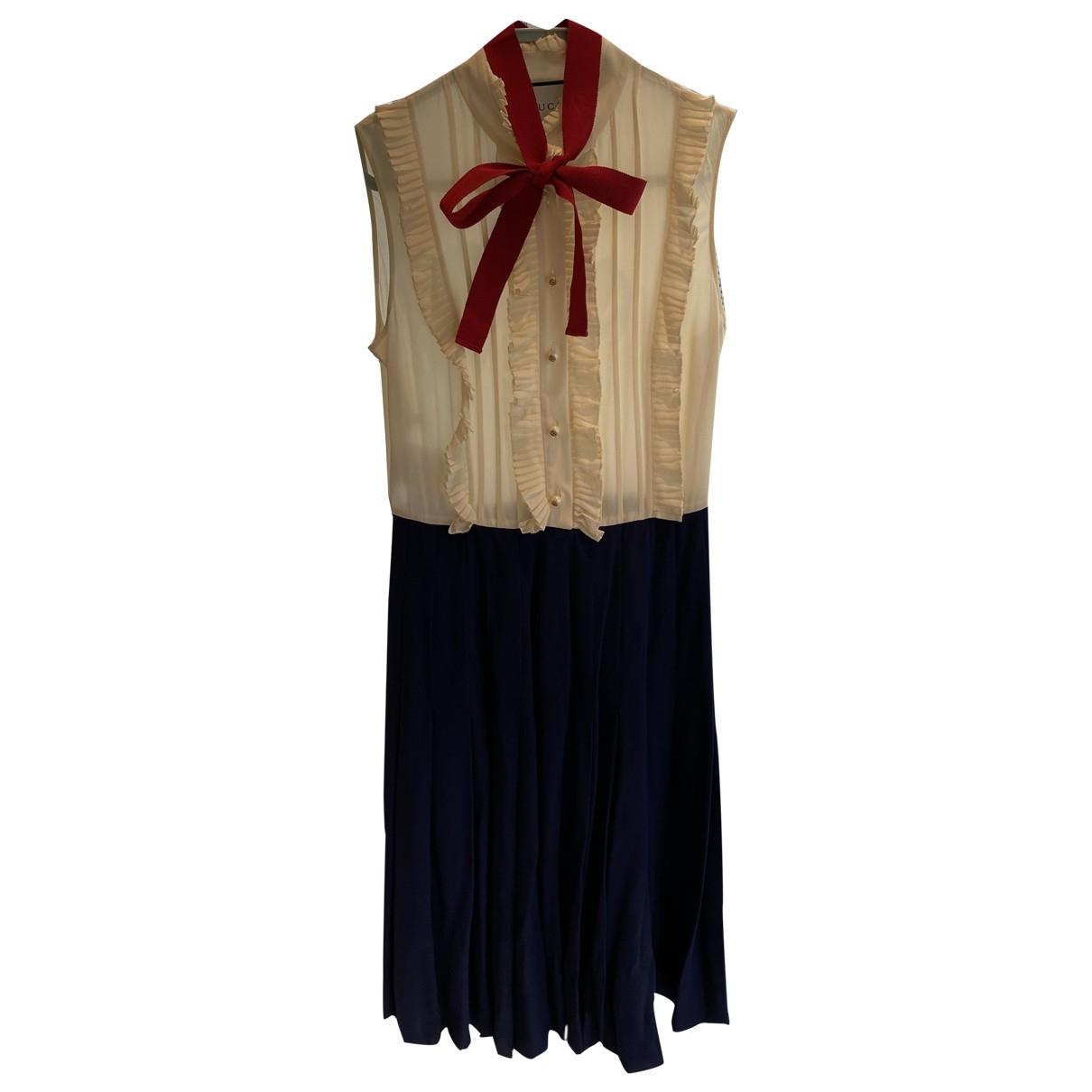 Gucci \N Beige Linen dress for Women 36 IT