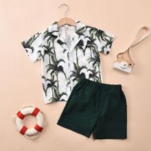 Outfits dos piezas para niño pequeño Bolsillo Tropical Multicolor Bohemio