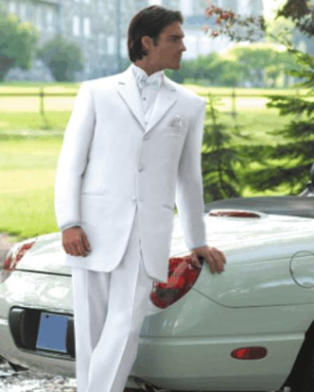 White Mens Tuxedo Dress Suits