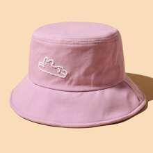 Sombrero cubo con bordado simple
