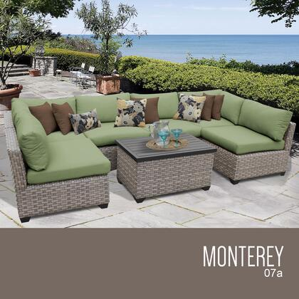 MONTEREY-07a-CILANTRO Monterey 7 Piece Outdoor Wicker Patio Furniture Set 07a with 2 Covers: Beige and