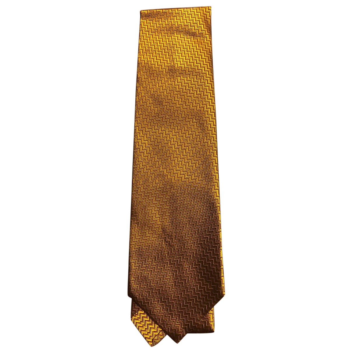 Bvlgari \N Krawatten in  Gold Seide