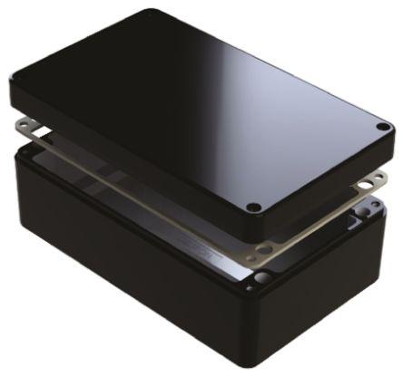 Deltron 486, Black Aluminium Enclosure, IP68, Shielded, 220 x 120 x 90mm