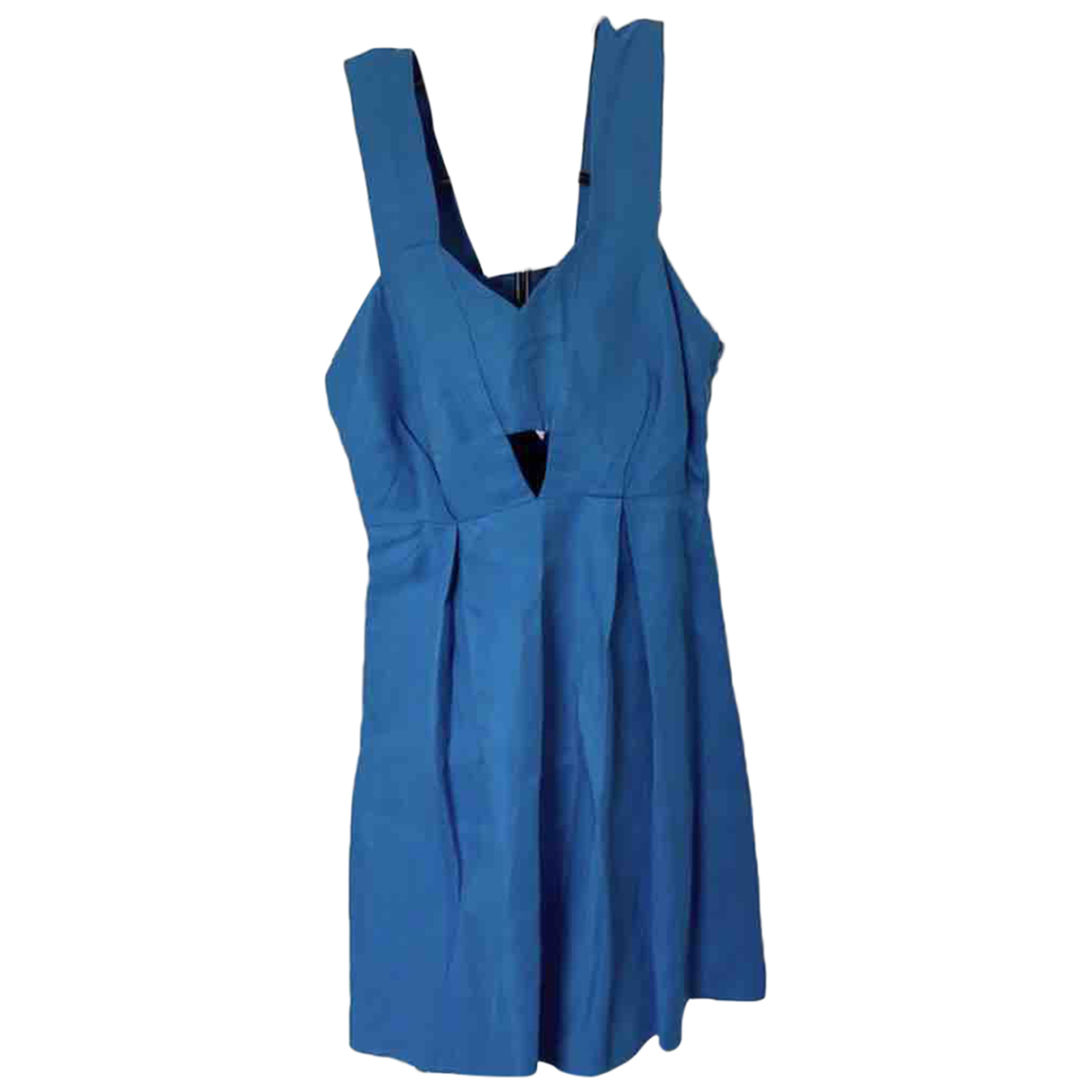 Sandro Spring Summer 2019 Kleid in  Blau Leinen