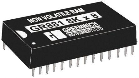 STMicroelectronics M48T18-150PC1, Real Time Clock (RTC), 64kbit RAM, 28-Pin PCDIP
