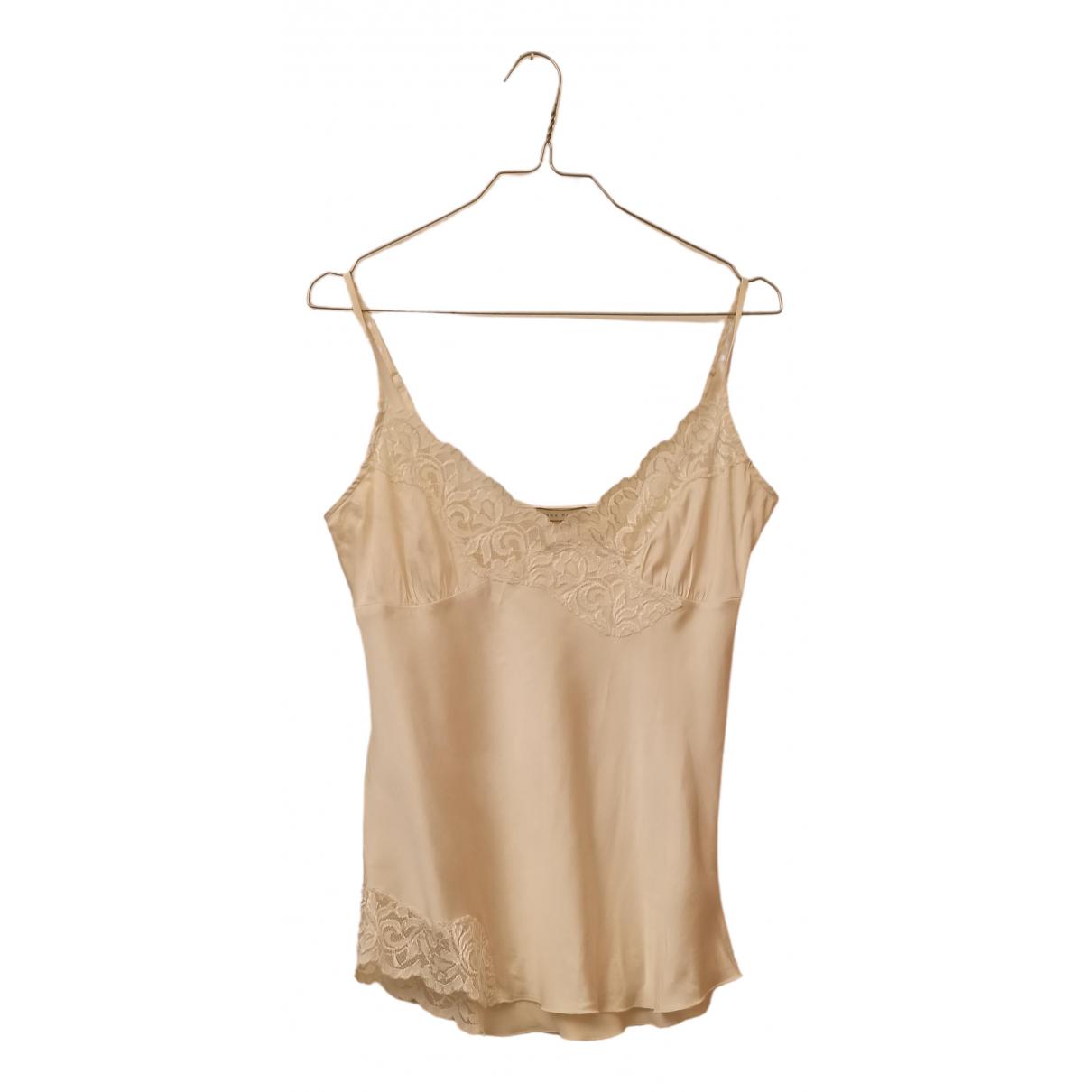 - Top   pour femme en soie - beige