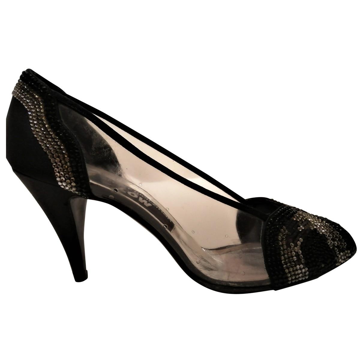 Stuart Weitzman \N Black Glitter Heels for Women 8.5 US