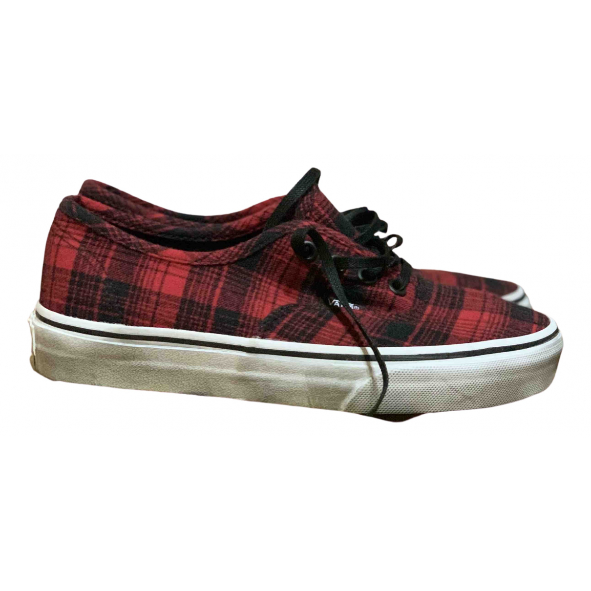 Vans \N Red Cloth Trainers for Women 36 EU