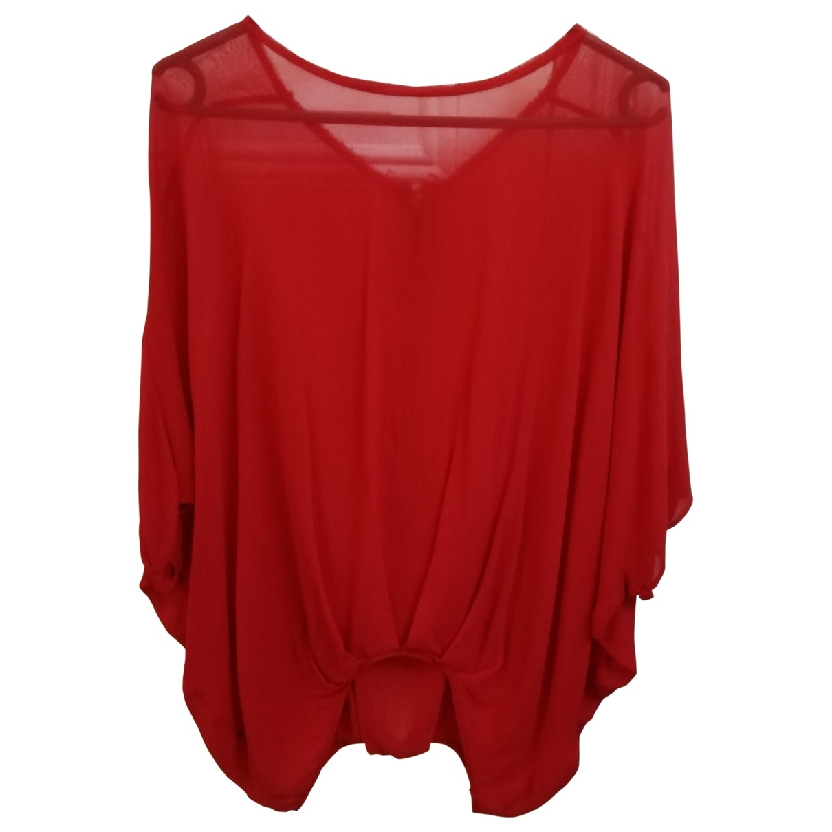 Les Petites \N Red Silk  top for Women One Size FR