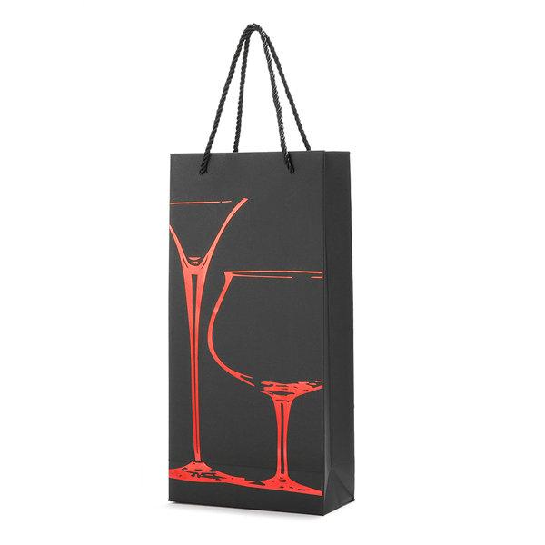 KCASA KC-PC02 Paper Wine Bottle Gift Package Bag Holder Drinks Bottle Carrier Organizer Party Supply
