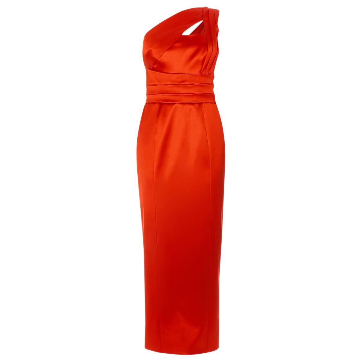 Karen Millen - Robe   pour femme en lin - rouge