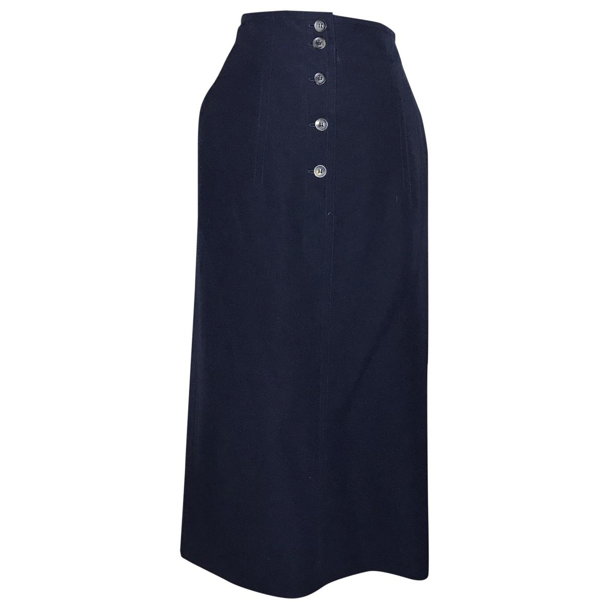 Jil Sander \N Navy Wool skirt for Women 42 FR