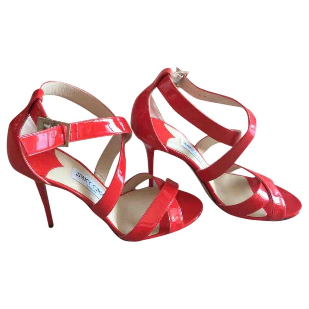 Jimmy Choo \N Patent leather Sandals for Women 38.5 EU