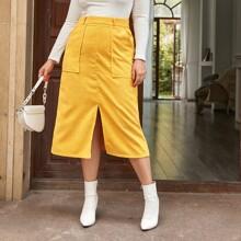 Faldas Extra Grande Cremallera Liso Elegante